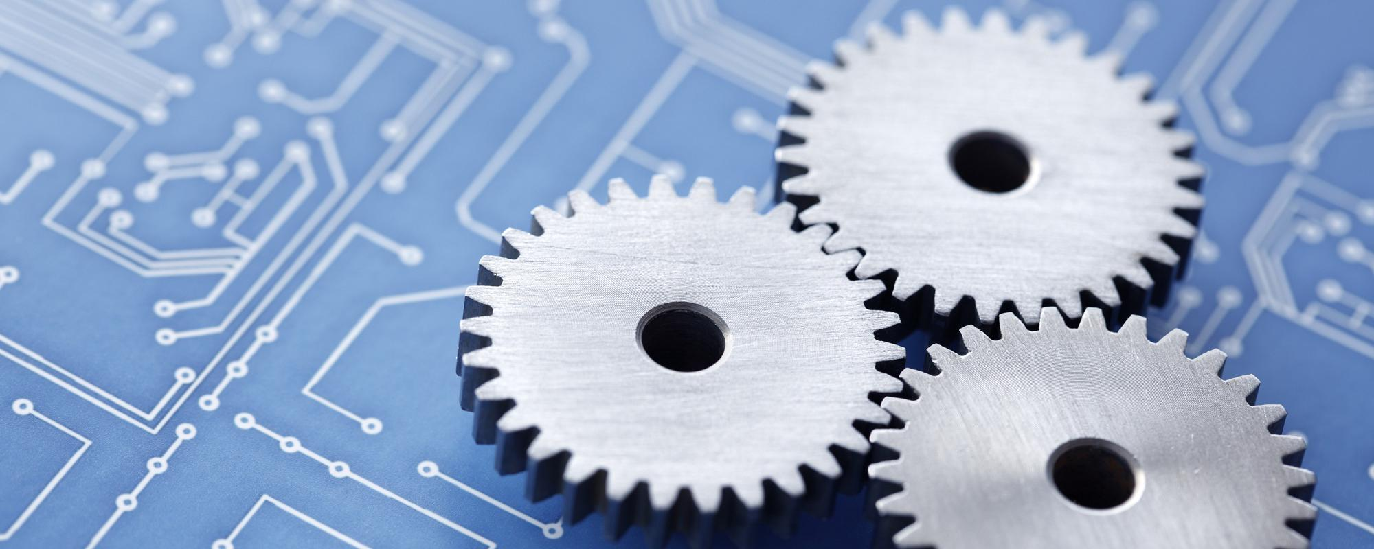 Cogs on electrical board